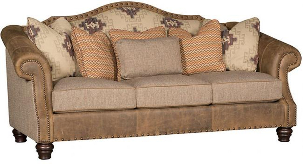 King Hickory Living Room Red Rock Leather/Fabric Sofa 6500 ...