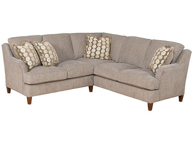 King Hickory Melrose Leather/Fabric Sectional 1400-Sect-LF