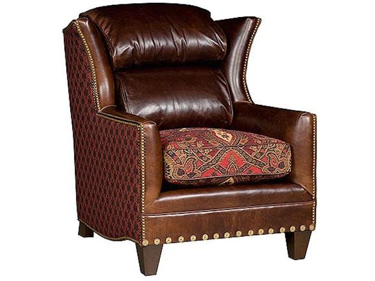 king hickory santorini leather fabric chair 767 lf