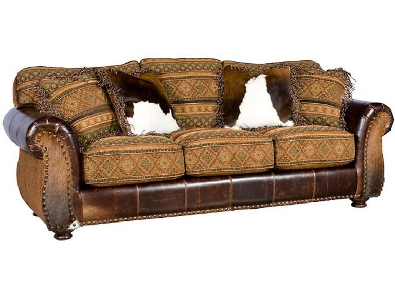 King Hickory Living Room Santana Leather Sofa 8000 Lf