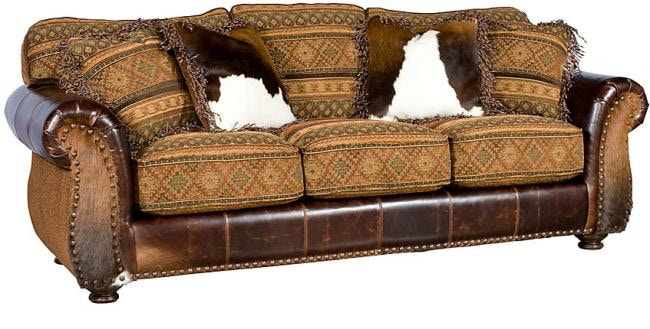 King Hickory Santana Leather Sofa 8000 LF