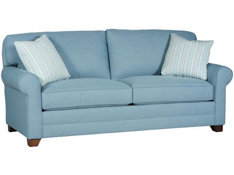 King Hickory Living Room Bentley Studio Sofa With Sock Arm, Loose