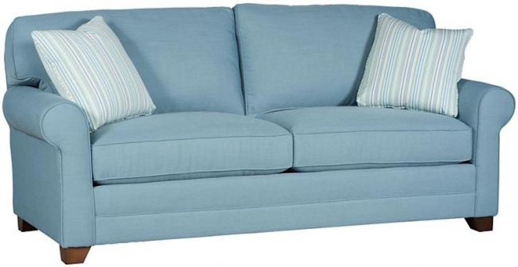 King Hickory Living Room Bentley Studio Sofa With Sock Arm