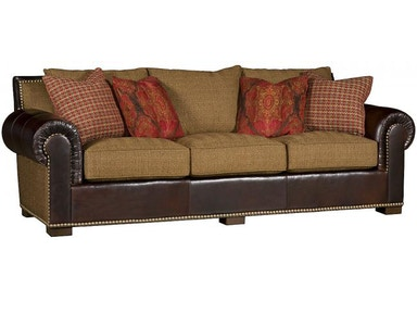 King Hickory Arthur Leather Fabric Sofa 1500-LF
