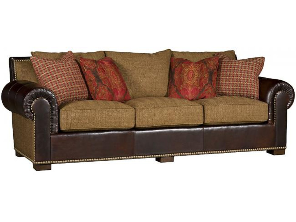King hickory living room arthur leather fabric sofa 1500 for Sectional sofa hickory chair