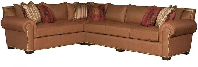 King Hickory Living Room Arthur Leather Sectional 1553