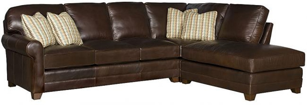 King Hickory Winston Leather Sectional 7400 Sect L