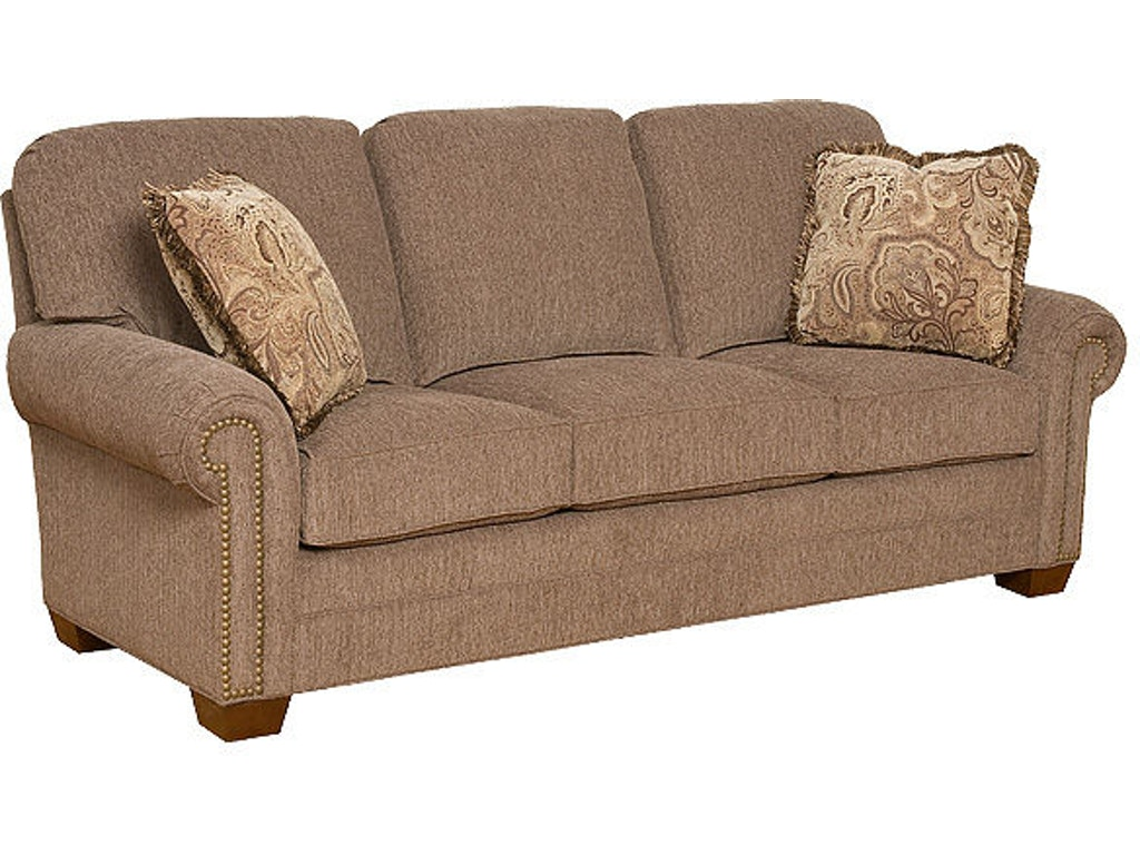 King hickory living room candice fabric sofa 8600 for Quality furniture
