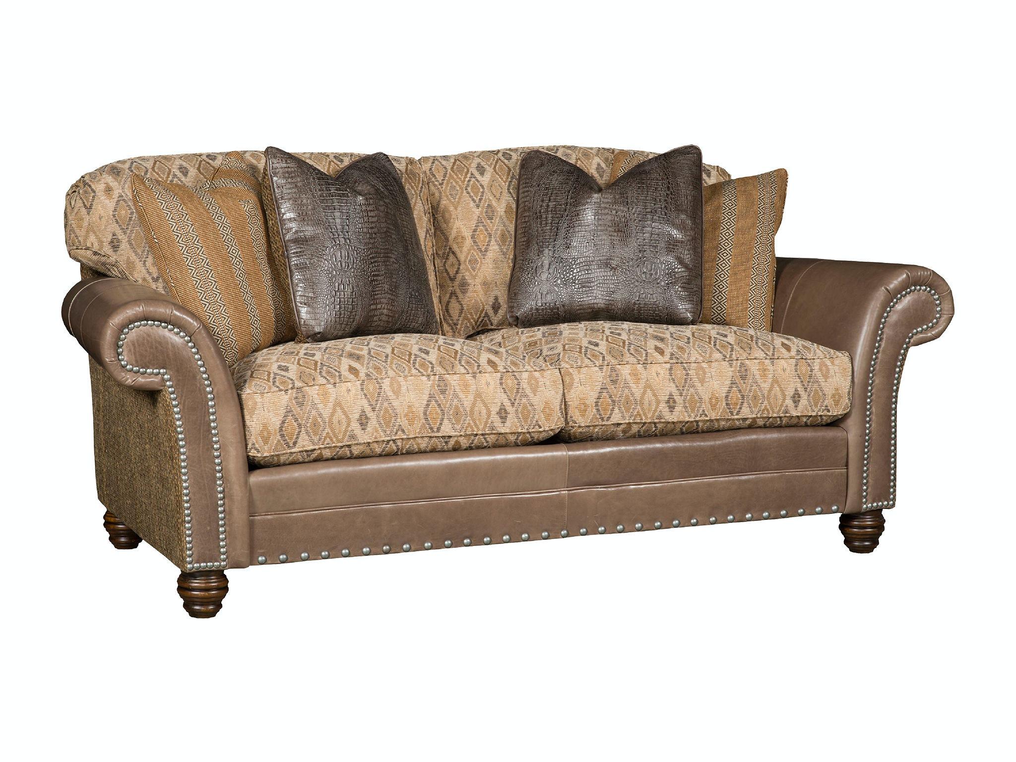 King Hickory Katherine Leather/Fabric Sofa 9700 LF