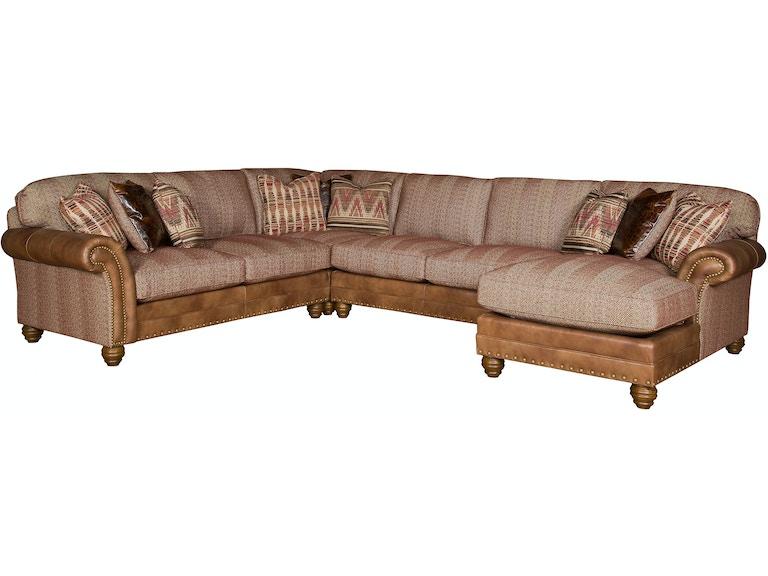 Astonishing King Hickory Katherine Fabric Leather Sectional 9700 Sect Lf Uwap Interior Chair Design Uwaporg