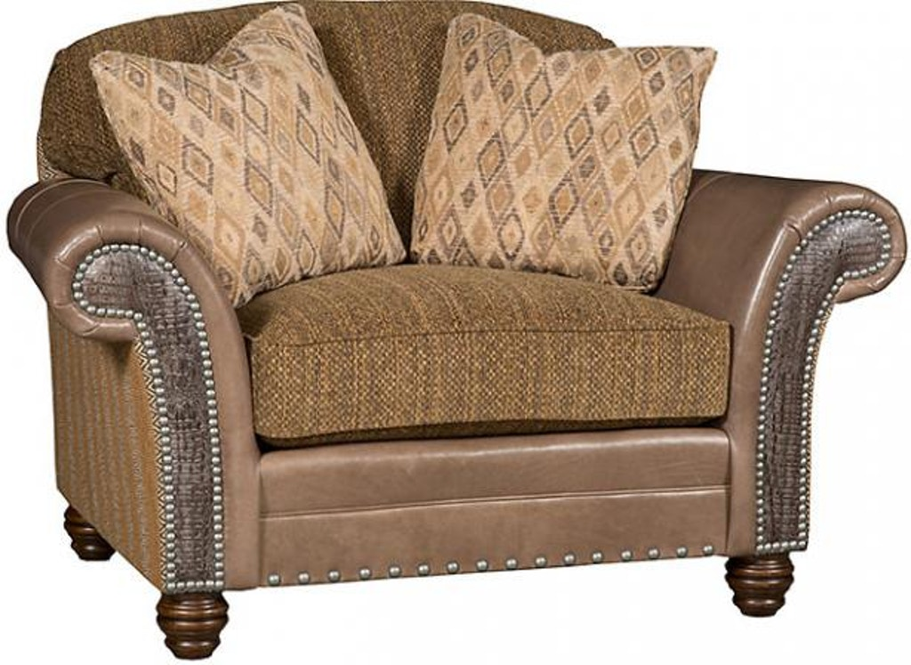 King Hickory Living Room Katherine Leather Fabric Chair