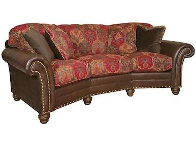 King Hickory Katherine Leather Fabric Sofa 9700 Lf