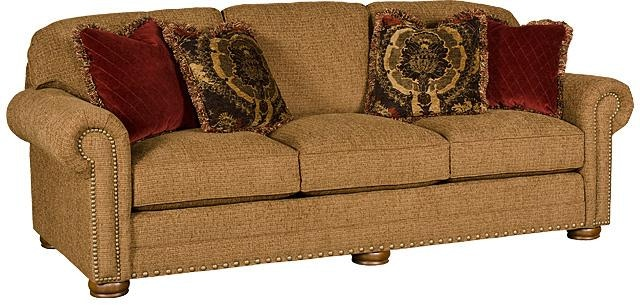 King Hickory Living Room Ricardo Fabric Sofa 9900 Cherry
