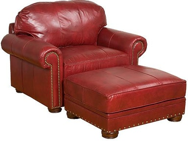 King Hickory Living Room Ricardo Leather Conversation Sofa ...