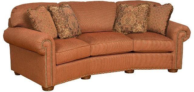 King Hickory Living Room Ricardo Fabric Conversation Sofa