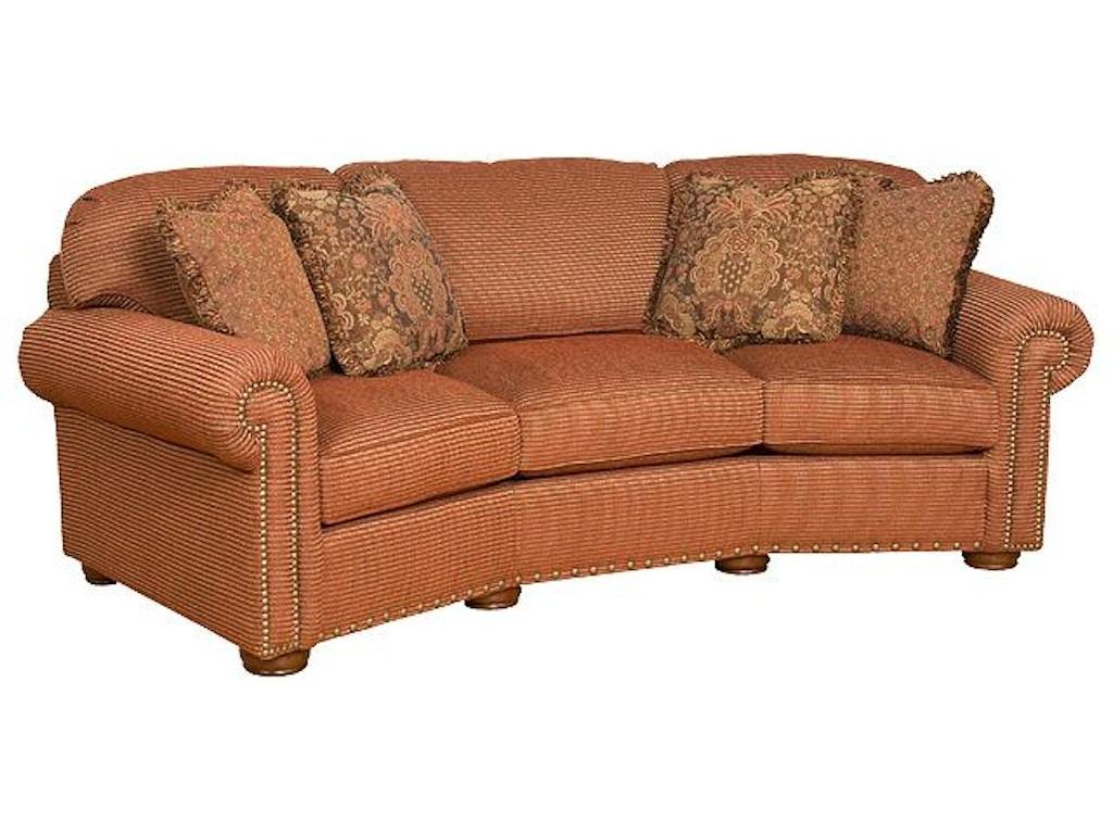 King hickory living room ricardo fabric conversation sofa for Sectional sofa hickory chair