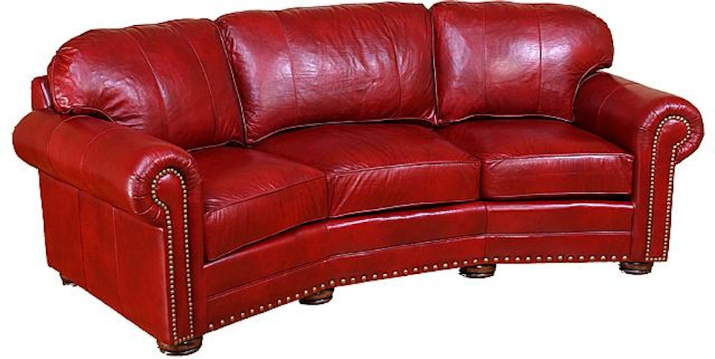 King Hickory Ricardo Leather Conversation Sofa 9965-L