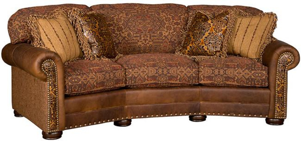 King Hickory Living Room Ricardo Leather Fabric Conversation Sofa 9965 Lf At Louis Shanks
