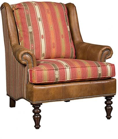 King Hickory Florida Leather/Fabric Chair C21 01 LF