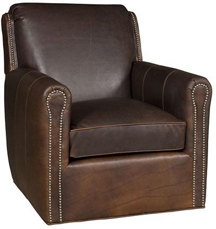 Outstanding King Hickory Living Room Austin Leather Swivel Chair C31 01 Caraccident5 Cool Chair Designs And Ideas Caraccident5Info