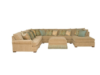 King Hickory Casbah Fabric Sectional 1100-SECT