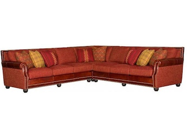 King Hickory Julianna Fabric/Leather Sectional 3000-SECT-LF