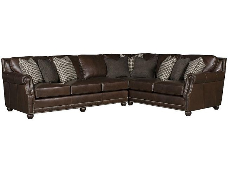 Brilliant King Hickory Julianna Leather Sectional 3000 Sect L Pabps2019 Chair Design Images Pabps2019Com