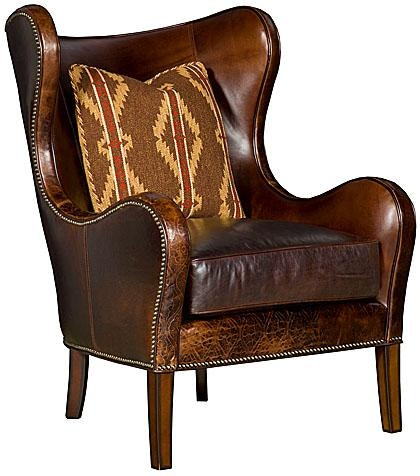 Exceptionnel King Hickory Marlin Leather Chair W35 01 L