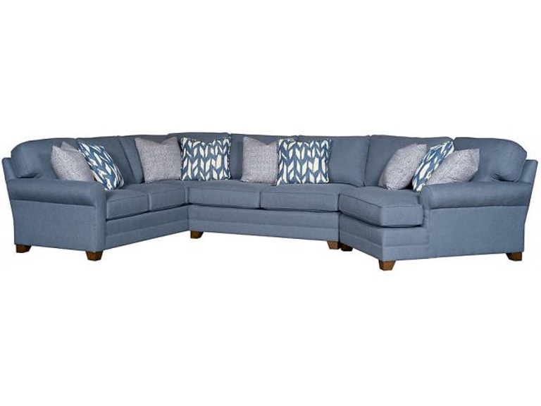 King Hickory Living Room Winston Fabric Sectional 7400-SECT
