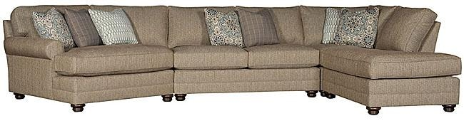 King Hickory Winston Fabric Sectional 7400 SECT