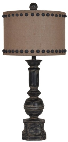 Office Furniture Jackson Ms Crestview Lamps and Lighting Iron Baluster Table Lamp ...