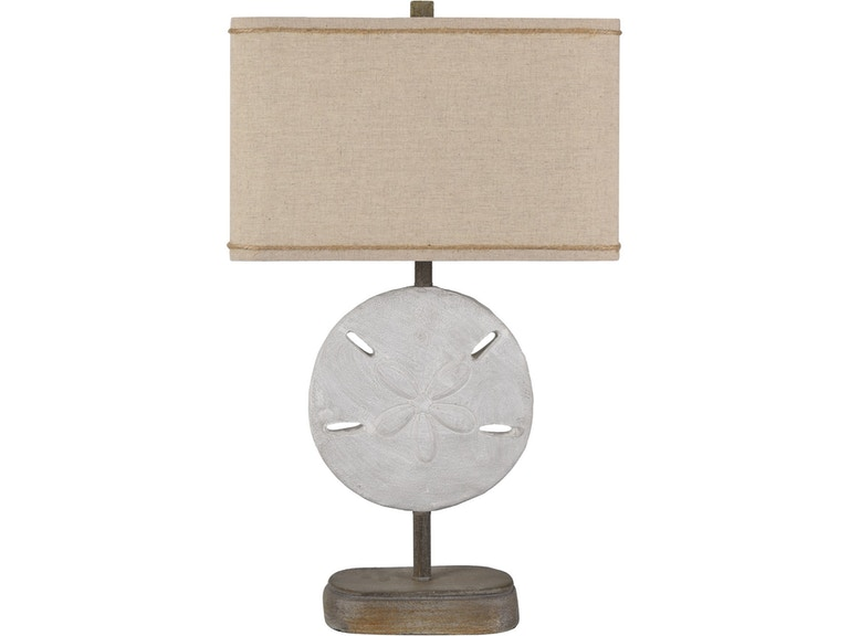 Crestview Lamps And Lighting Sand Dollar Table Lamp
