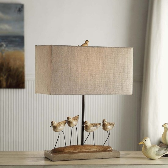 Crestview Lamps And Lighting Shore Birds Table Lamp CVAVP384 At Cherry House  Furniture