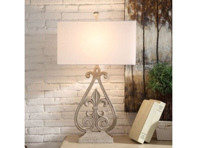Crestview Lamps And Lighting Fleur De Lis Table Lamp