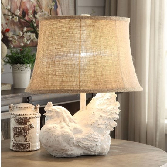 Crestview Rooster Table Lamp CVAVP894
