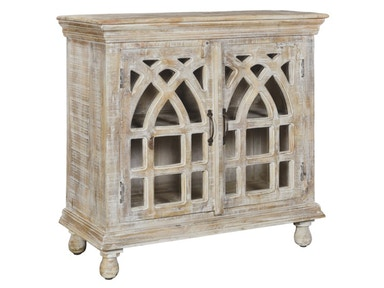 Crestview Bengal Manor Light Mango Wood Cabinet CVFNR332