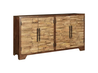 Crestview Bengal Manor Mango Wood Random Strips Sideboard CVFNR337