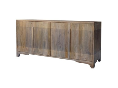 Crestview Bengal Manor 2 Tone Grey Mango Wood 4 Door Sideboard CVFNR382