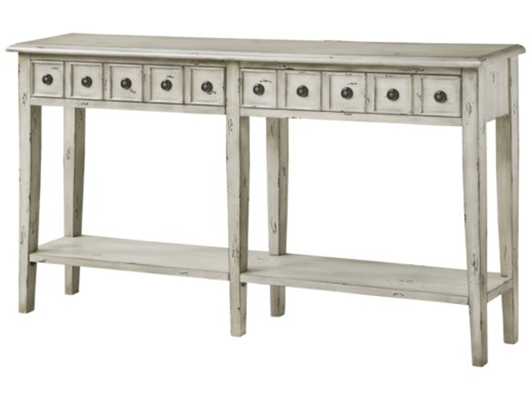 Crestview Living Room Newcastle 2 Drawer Antique White Console Cvfzr2144 At Cherry House Furniture