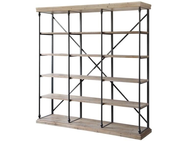 Crestview La Salle Metal And Wood 3 Section Bookshelf CVFZR4090