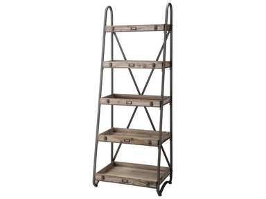 Crestview Voyager Metal And Wood Tiered Etagere CVFZR867