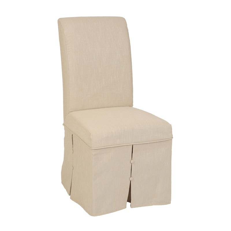 Lotus/Camel Parsons Chair Skirted Cover