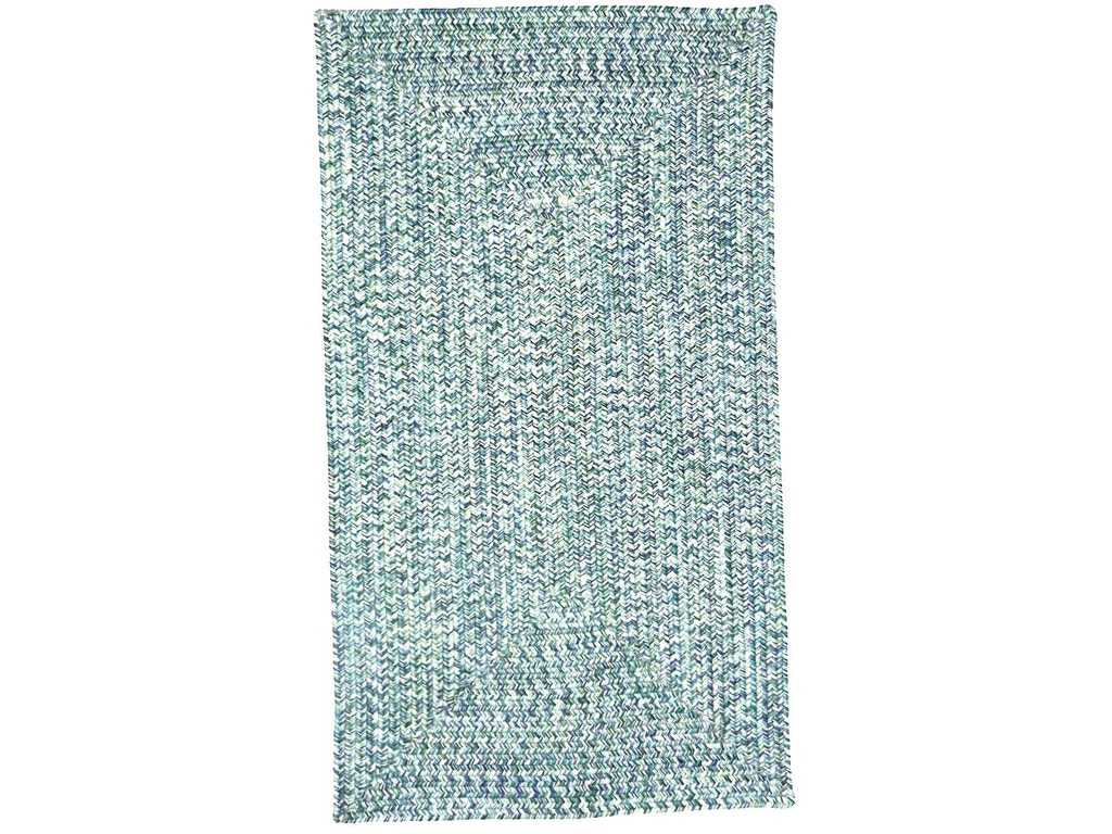 Sea Glass rugs have a braided construction. The ocean colorway is a  beautiful addition to our assortment of blue area rugs. Sea Glass Rug  0110QS Ocean Ocean ...