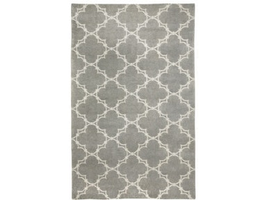 Capel Incorporated Quatrefoil Rug 1931RS Gray Ivory