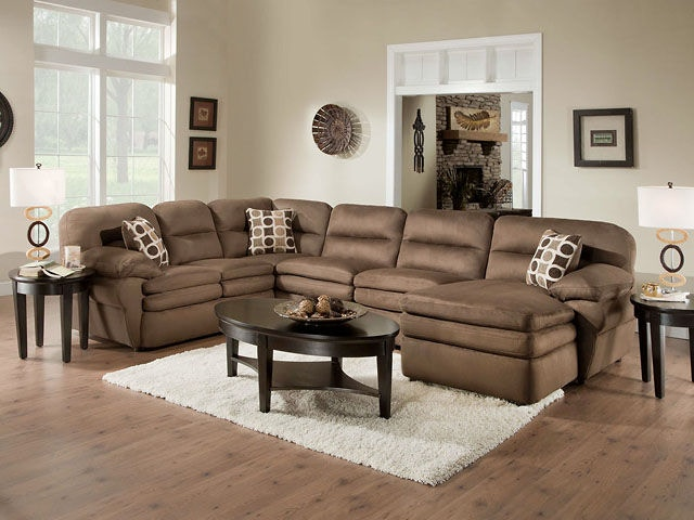 American Furniture Manufacturing 3 Piece Sectional H5300 Shiloh Chocolate  Sectional