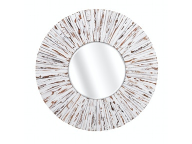 IMAX Corporation Sadie White Wooden Mirror 10439