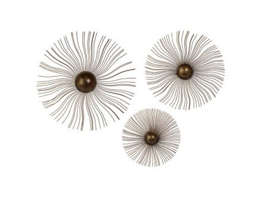 IMAX Corporation Sunburst Wall Medallions - Set of 3 10587-3
