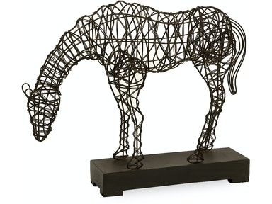 IMAX Corporation Cki Anatole Woven Horse Statuary 10836