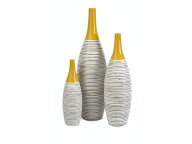 IMAX Corporation Andean Multi Glaze Vases-Set of 3 11217-3