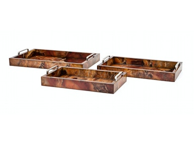 IMAX Corporation Pema Marbleized Decorative Trays - Set of 3 11430-3